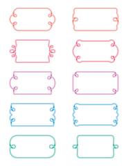 Pastel Gradient Frame Set