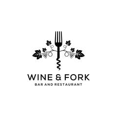 The Wine logo design template. Grape Vector illustration of icon
