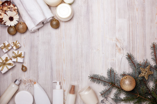 Spa.  Christmas and New Year background
