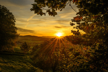 Herbstlicher Sonnenaufgang 11.10.2019