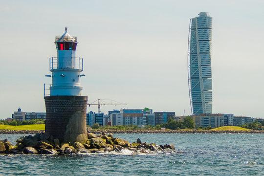 Malmö Leuchtturm Hafen