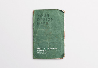 Aged Notepad Cover Mockup