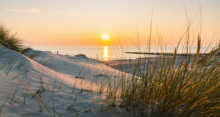Photo sur cadre textile Ikea Sunset at the Baltic Sea Beach