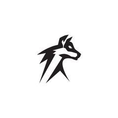 Wolf logo design vector template