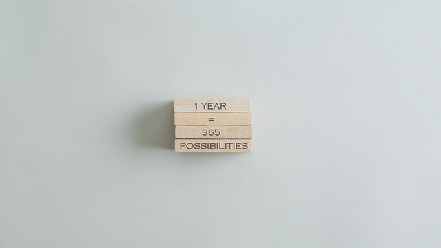 One year is 365 possibilities sign