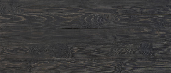 Wall Mural - dark wood texture background, wide wooden plank panel pattern