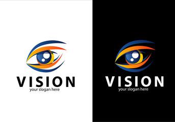 vision eye icon, eye logo