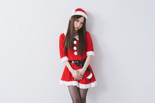 サンタクロースの女性