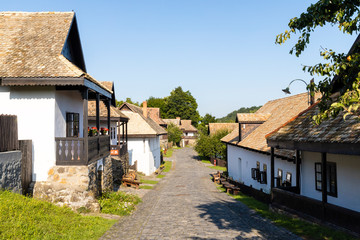 Historical village center of Holloko, region Northern Hungary