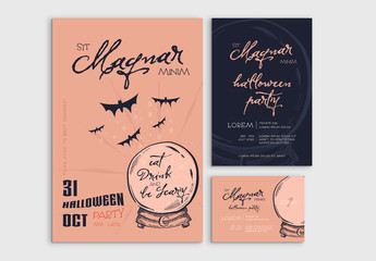 Halloween Event Promotion Set Layouts
