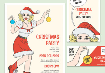 Christmas Party Promotion Pack Layouts