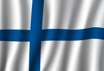 Finland flag, finnish Nordic cross national banner