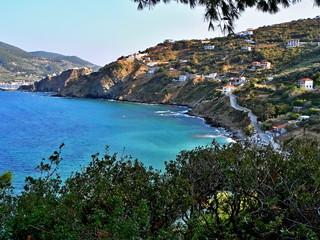Greece-view on the seacoast near Skopelos