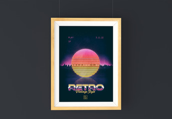 Retro 80s Sci-Fi Event Poster Layout