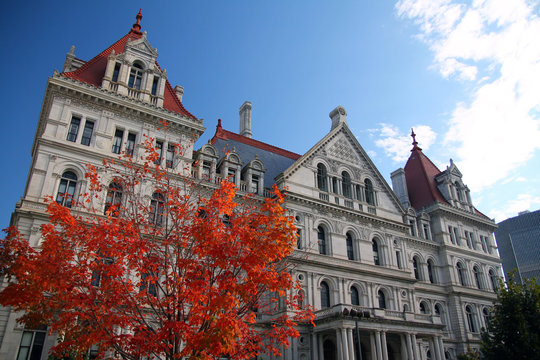 Fall on New York State Capitol building
