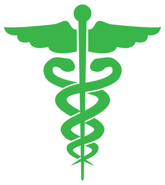 Illustration of the caduceus symbol of the pharmacy