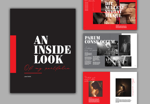 Black and Red Portfolio Layout