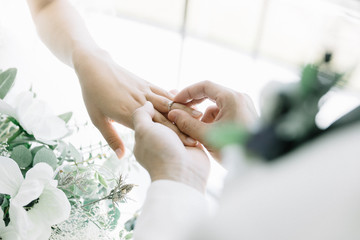 指輪の交換 結婚式 wedding リング