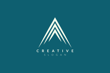 Vector illustration of abstract triangle shape design. Minimalist and simple logo, flat style, modern icon and symbol.