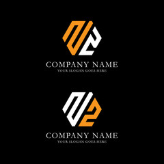 ZZ logo vector, initial name logo inspiration, hexagonal logo template