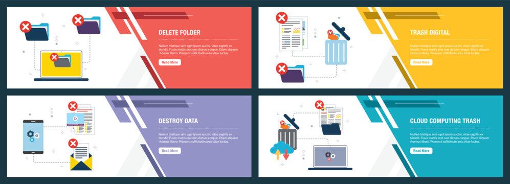 Delete folder, destroy data and trash digital.