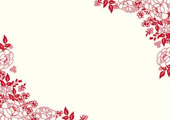 台湾イメージ 花柄 フレーム