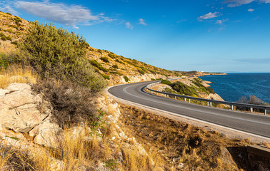 greek road by the sea-4