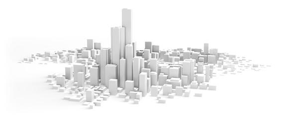 都市のイメージ Fototapete