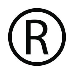 R symbol copyright sign vector image