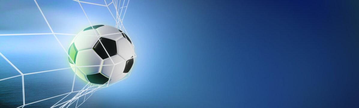 soccer ball in the net. 3d render