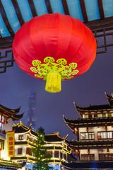 Old street near Yuyuan garden (Garden of Happiness) in center of Shanghai