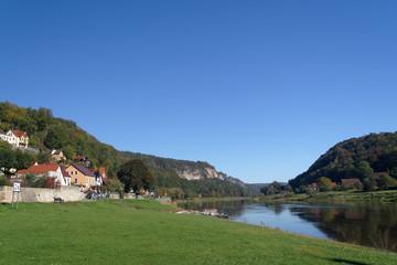 Elbe bei Stadt Wehlen