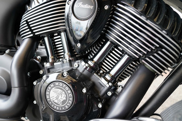 Indian motorbike engine black motor motorcycle usa American brand of moto