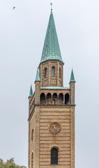 The bell tower of the Sankt Matthäuskirche Church in the city center of Berlin, Germany