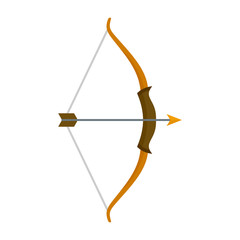 Archer bow icon. Flat illustration of archer bow vector icon for web design