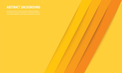 abstract modern yellow lines background vector illustration EPS10 Fotomurales
