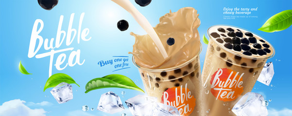 Bubble milk tea ads