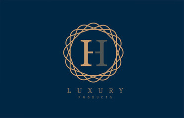 luxury letter H logo alphabet for company logo icon design