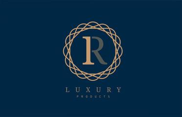 luxury letter R logo alphabet for company logo icon design