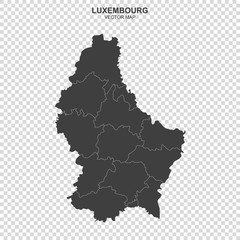 political map of Luxembourg isolated on transparent background