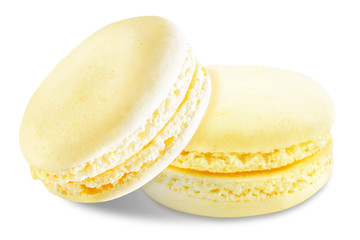Printed kitchen splashbacks Macarons Macarons on a white isolated background