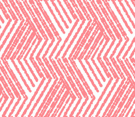 Foto op Canvas Geometrisch Abstract geometric pattern with stripes, lines. Seamless vector background. White and pink ornament. Simple lattice graphic design
