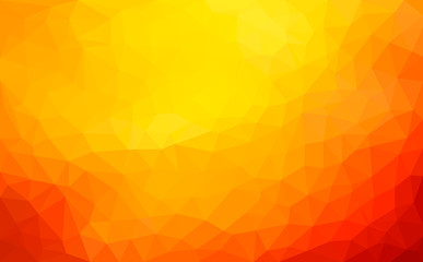 Modern dark orange abstract polygonal mosaic background. Geometric texture background in origami style. low poly style.