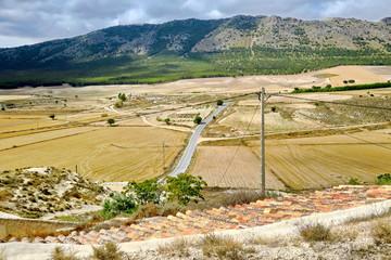 Campagne en Andalousie vue du Ciel.