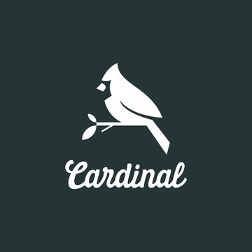 cardinal silhouette logo vector illustration