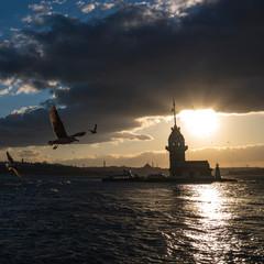 Maiden tower in Istanbul, Turkey.