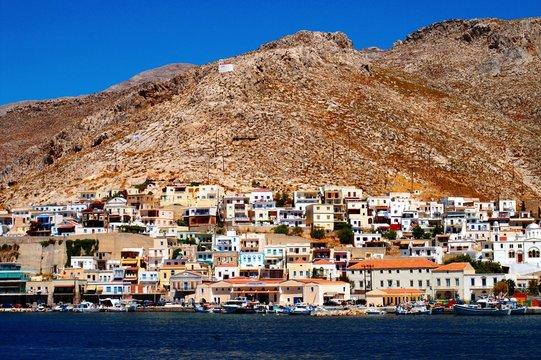 View of Kalymnos town. Kalymnos, Dodecanese islands, Greece.