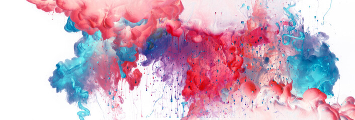 Acrylic blue and red colors in water. Ink blot. Abstract  background. Fotomurales