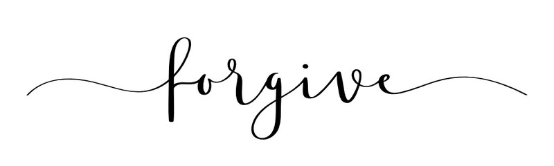 FORGIVE vector brush calligraphy banner