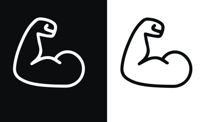 Fitness & Workout vector design black and white background
